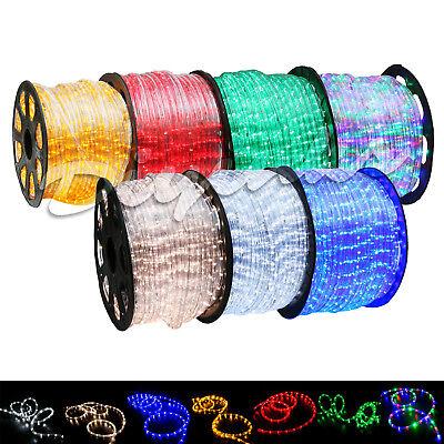 LED Rope Light 2 Wire 110V Lighting Outdoor Xmas Christmas Custom Length 3'-300'