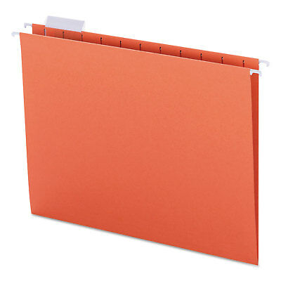 Smead Hanging File Folders 15 Tab 11 Point Stock Letter Orange 25box 64065