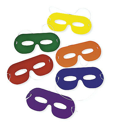 Superhero Birthday Party Games (24 Bright Color Super Hero Face Masks Costume Party Favor BIRTHDAY PARTY)