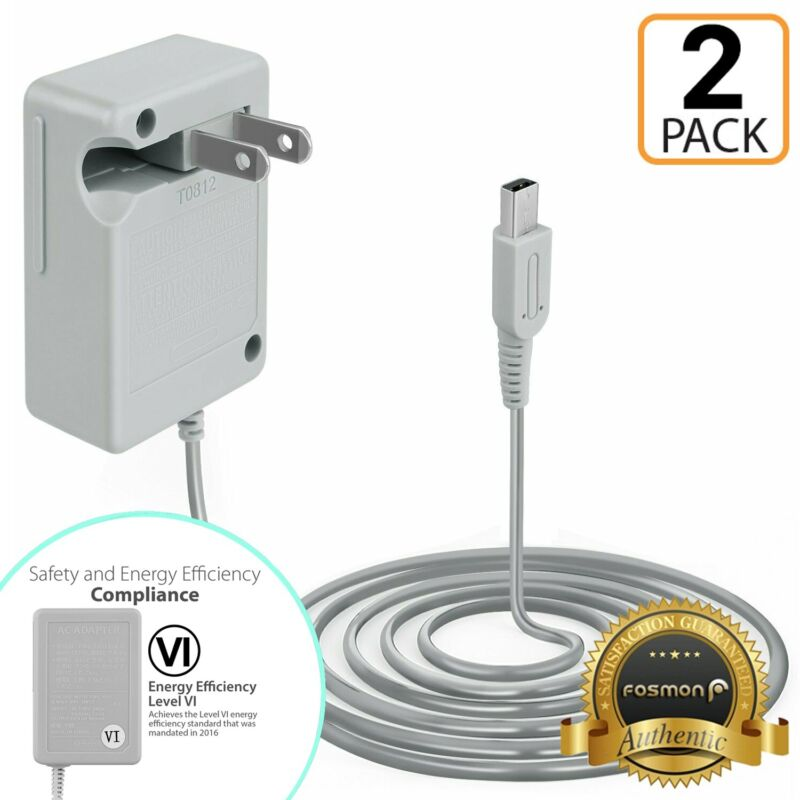 2x Travel AC Wall Home Charger Power Adapter Cord Nintendo 2DS, 3DS XL NDSi DSi