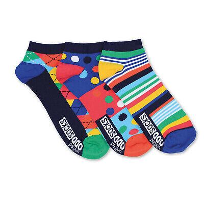 Socken Streifen und Muster Füßlinge Oddsocks in 39-46 Strümpfe im 3er Set