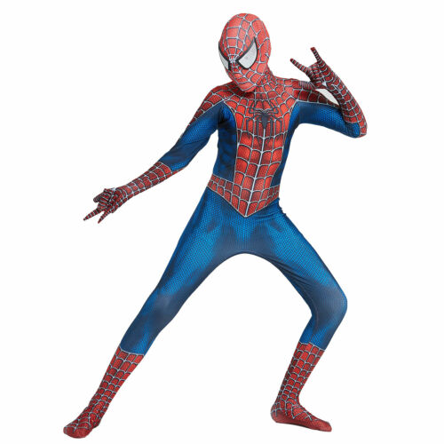 Kid Boy Spider-man Cosplay Costume Tobey Peter Parker Maguire Spandex Zentai