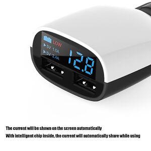 5V KFZ Auto Ladegerät Dual USB Ports LED-Anzeige Car Charger f. Handy Tablet Pad