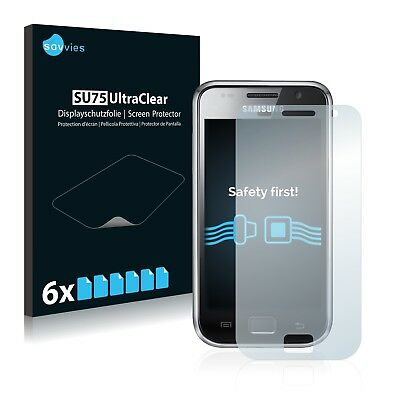 6x Savvies Screen Protector for Samsung GT-i9000 Ultra Clear I9000 Screen Protector