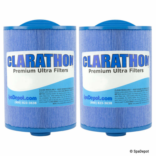 Antimicrobial Hot Tub Filter Cartridges - PWW50-P3-M FC-0359M 6CH-940 - 2 Pack
