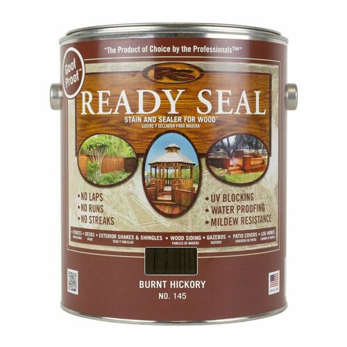 Ready Seal, 145 Burnt Hickory Semi-Transparent Exterior Stain and Sealer, 1 Gal