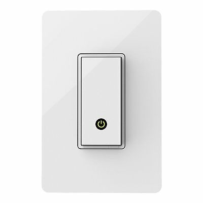 Wemo Light Switch, Wi-Fi, Compatible w/ Alexa and Google Assistant (F7C030)