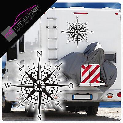 1x Bussola Rosa Adesivo Allrad 4x4 Jeep Adventure Ruolotte/Mobile