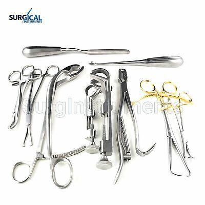 10 Assorted Orthopedic Surgical Instruments Custom Made Set - O.r. Grade