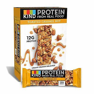 KIND Protein Bars, Toasted Caramel Nut, Gluten Free12g Protein,1.76oz, 12 count - Gluten Free Protein