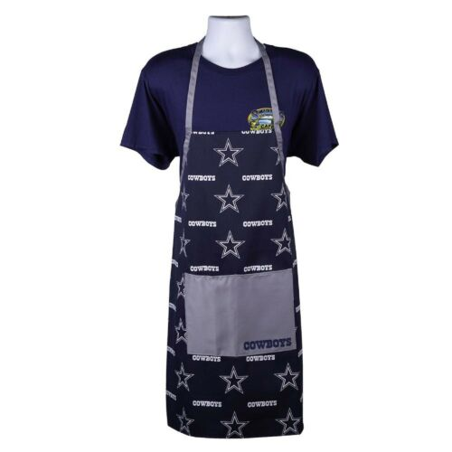 NFL Dallas Cowboys Chef Apron Logo Rush for Cooking and BBQ, Blue Apron