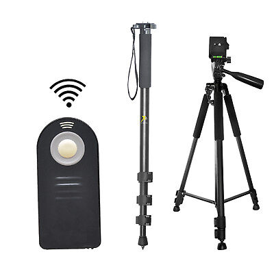 "Pro 60"" Tripod & 72"" Monopod + Wireless Remote For Canon, Nikon, Sony, Pentax"