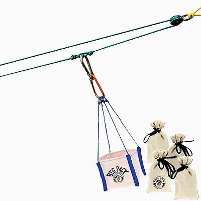 Mini-Seilbahn Kinder Werkzeug für Baumhaus Corvus Neu Seilbahn Kids at work