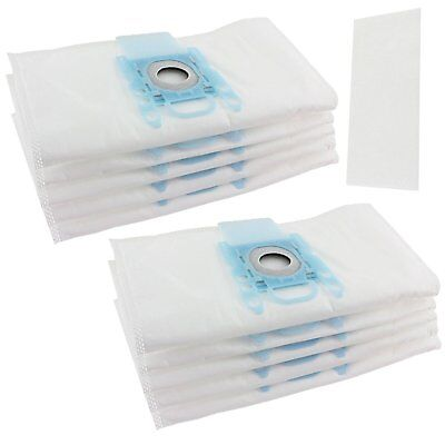 10 x Vacuum Cleaner Type G Cloth Dust Bags & 2 Filter For Bosch Hoover Bag