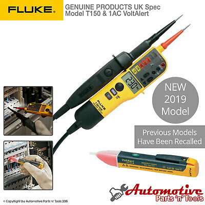 Genuine Fluke T150 1ac Voltage Continuity Electrical Lcd Two Pole Tester