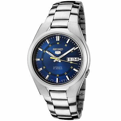 Seiko 5 SNK615 Automatic Day-Date Blue Dial Stainless Steel Men's Watch SNK615K1