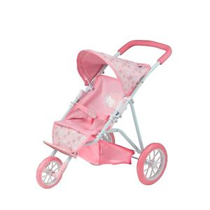 Baby Annabell Doll Tri Pushchair 3 Wheel Stroller Kids Pink Pram Buggy Toy