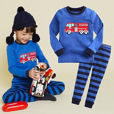 "Vaenait Baby Infact Clothes Kids boys Sleepwear Pajama ""Fire Truck"" S(2T)"