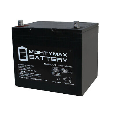 Mighty Max 12V 75Ah Replacement Battery for BCI Group 24M St