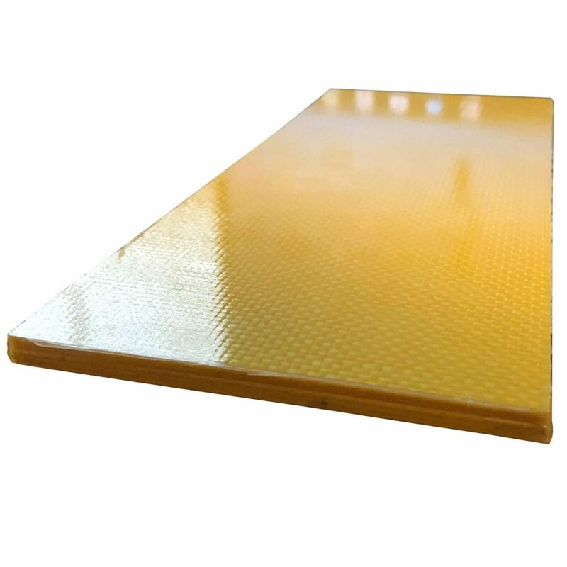 (2) CARBON FIBER ARAMID Plates - 100mm x 250mm x 6mm Thick