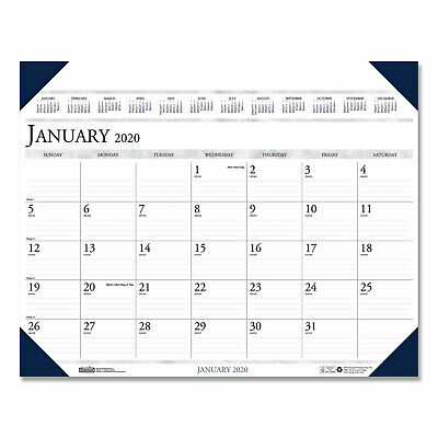House Of Doolittle Executive Monthly Desk Pad Calendar 24 x 19 2020 180HD Doolittle Monthly Desk Pad