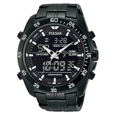 - Pulsar Men's Stainless Steel Analog & Digital Chronograph Watch PW6011 $175
