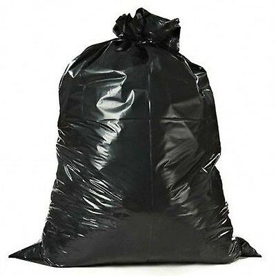Heavy Duty 55-60 Gallon 3 mil Contractor Trash Bags, 32/Case Garbage Bags Black