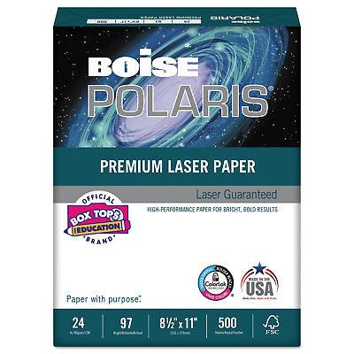 Boise POLARIS Premium Laser Paper 97 Bright 24lb 8 1/2 x 11 White BPL0111 Boise White Laser Paper