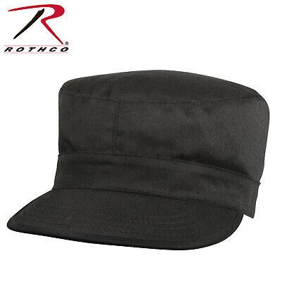 Black rothco 9340 Poly/Cotton Army Ranger Cap Fatigue Hat Patrol Cap sizes XS-2X Black Army Fatigue Cap