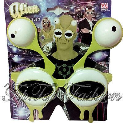 NEU Alien Sonnenbrille mit Antenne Augen Fach Bopper Slime Halloween Kostüm