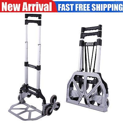 Heavy Duty Stair Climber Hand Truck Dolly Cart Trolley W Backup Wheels 165lbs