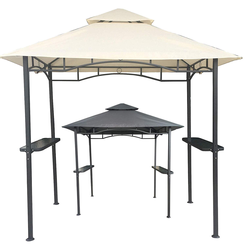 Grillpavillon Pavillon Wasserdicht 310g/m² PVC Dach 250x150 cm mit Ablage Garten