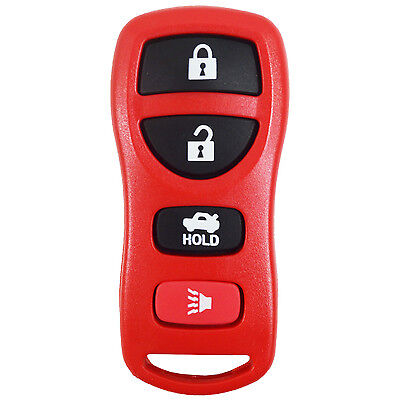 New Red Remote Keyless Entry Transmitter Control Fob Alarm For 4 Btn KBRASTU15