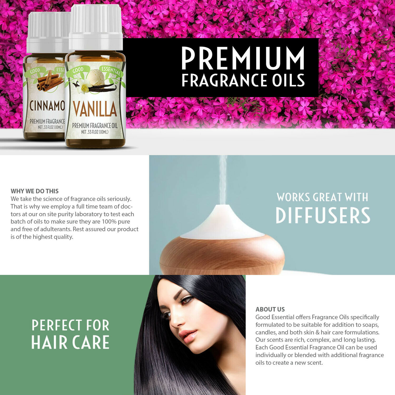 Good Essential Oils (Premium Grade Fragrance Oils) Aromatherapy & Soaps - 30ml