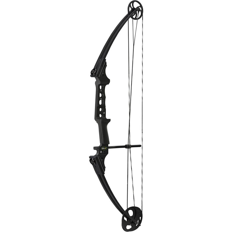 Genesis Archery GenX Shooting Target Practice/Hunting Bow, Right Handed, Black