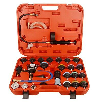 28pcs Radiator Pressure Tester Coolant Purge Refill Vacuum Cooling System Kit