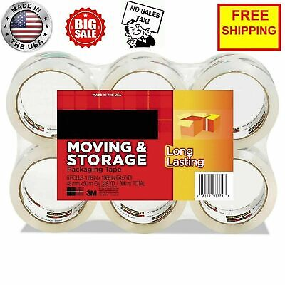 Scotch Moving Storage Packing Tape - 6 Rolls Heavy Duty Shipping Packaging