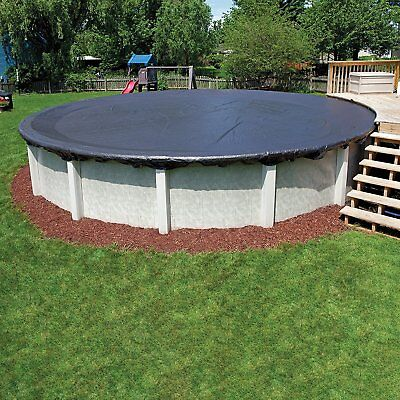 Big 18-ft Pool Cover Foot Round Above Ground Winter Swimming Best Dirt