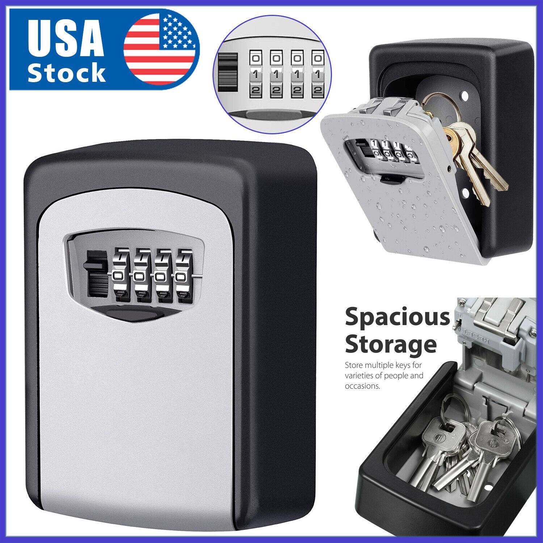 4 Digit Combination Key Lock Box Wall Mount Safe Security Storage Case Organizer Access Control Equipment
