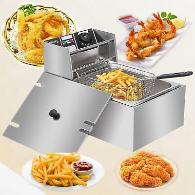 2500W 6L / 6.3QT Electric Deep Fryer Commercial Tabletop Res