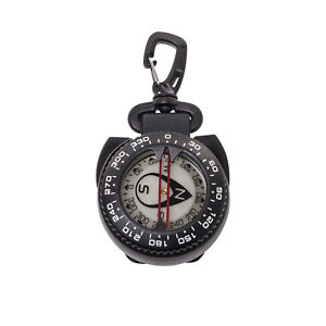 Trident Large Glow in the Dark Dive Compass With Retractor Cable, Gate Snap Clip