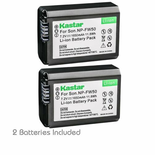2x Kastar Battery for Sony NP-FW50 Alpha a6000 a6300 a6400 a6500 a6100 a7 a7 II