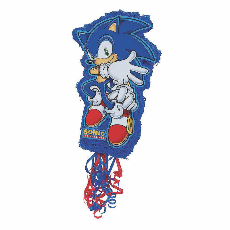 "Sonic The Hedgehog Pull-String Papier-mâché Pinata, Party Supplies, 18""x19""x6"""