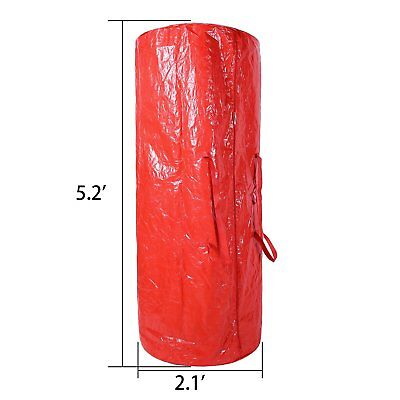 - Christmas Tree Storage Bag Container Double Zipper Heavy Duty For Up to 9Ft