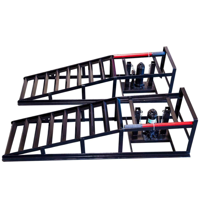 Hydraulic Lift Ramps : Hydraulic vehicle car ramps lb pacity portable