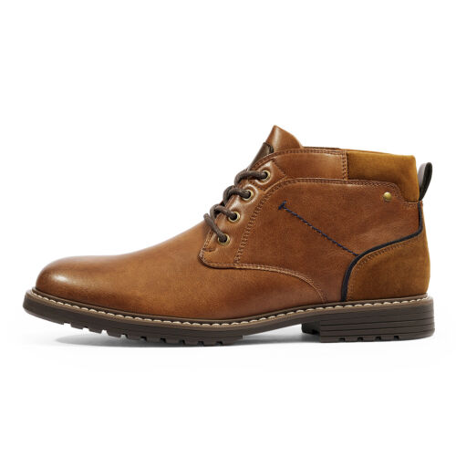 Men's Leather Chukka Casual Boot Dress Boots Durable Stylish Shoes for Men 2