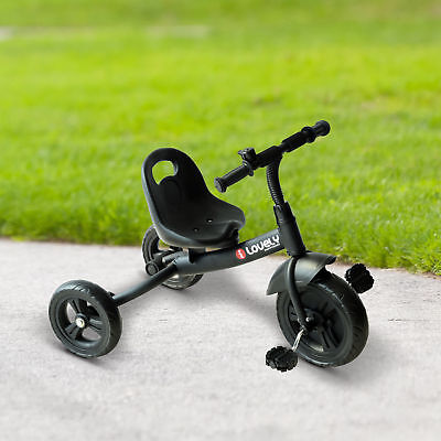 Infant Tricycle - Baby Kids Tricycle Bike Trike Play Sports Activity Ride On Steel Frame Black