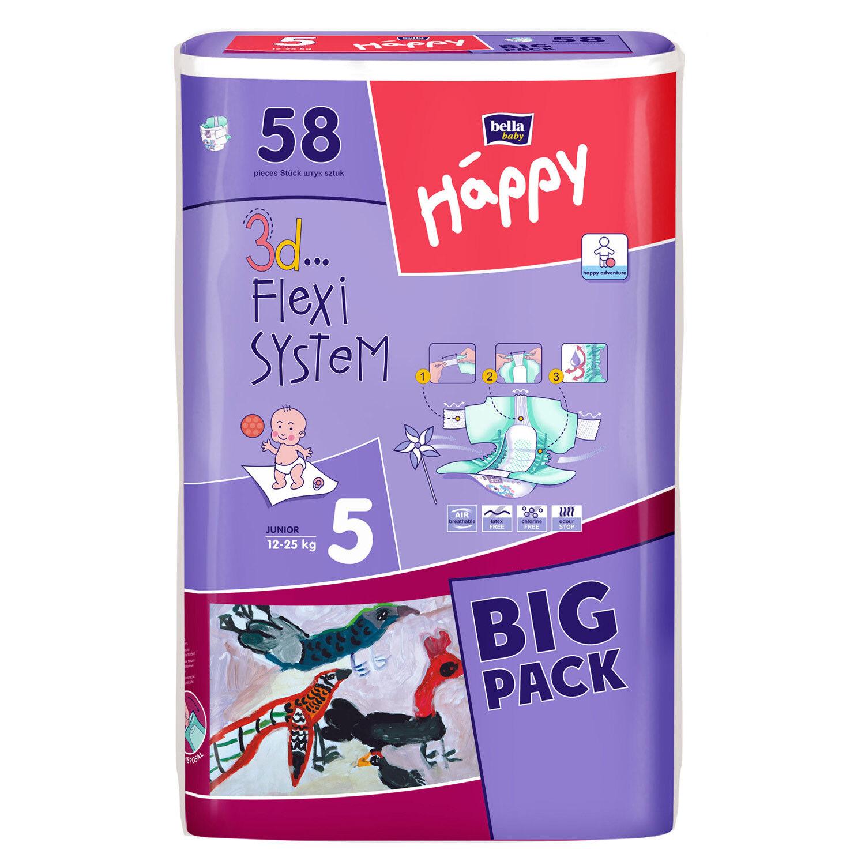 Happy Bella Baby Windeln Gr. 5  Junior 12 - 25 kg  58 oder 232 Stück