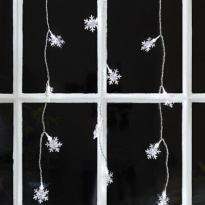 40 White LED Snowflake Indoor Hanging Christmas Window Light Decoration](Indoor Christmas Decorations)