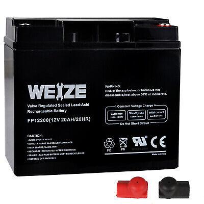 Weize 12V 20AH AGM Sealed Rechargeable Lead Acid SLA Battery For HR22-12,